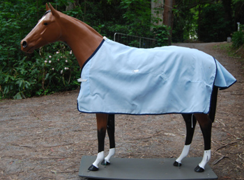 Light Blue Flag Summer Rug This Is An Open Weave It Very Cool And Breathable For Allows Maximum Airflow Keeps Your Horse
